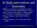 in flight interventions and limitations