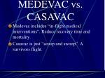 medevac vs casavac