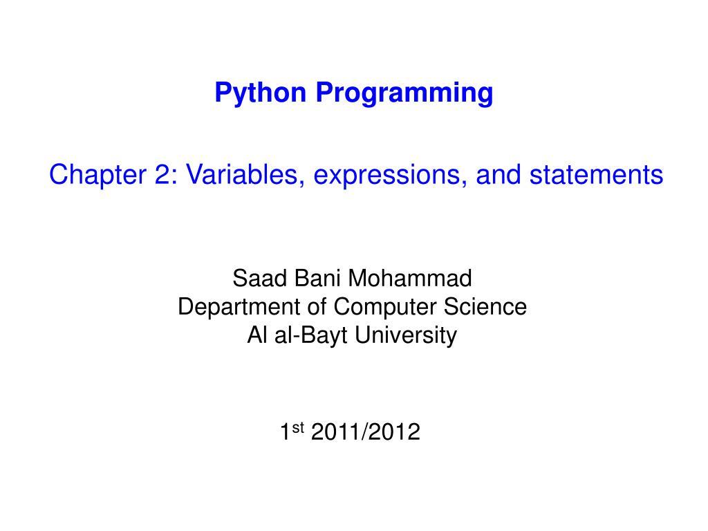PPT - Python Programming PowerPoint Presentation, free