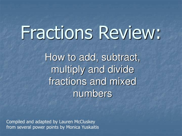 fractions review n.