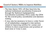 coord of sectors mdas to improve nutrition19