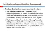 institutional coordination framework5