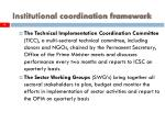 institutional coordination framework6
