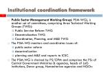 institutional coordination framework7
