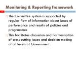monitoring reporting framework