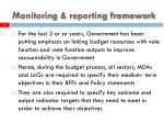monitoring reporting framework11