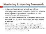 monitoring reporting framework12