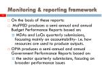 monitoring reporting framework14