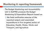 monitoring reporting framework15