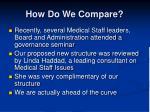 how do we compare
