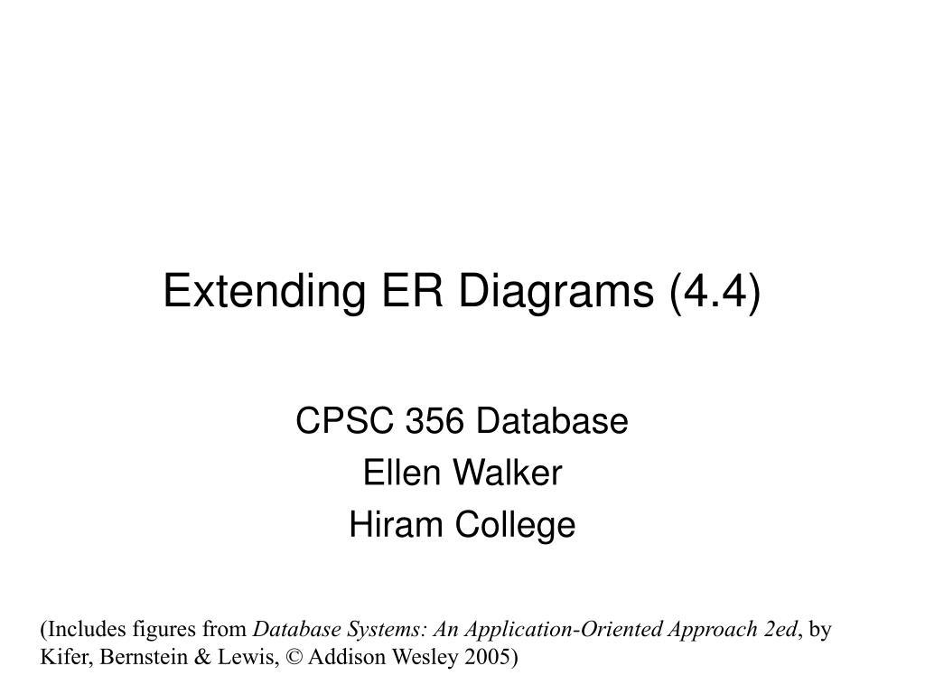 Ppt - Extending Er Diagrams  4 4  Powerpoint Presentation