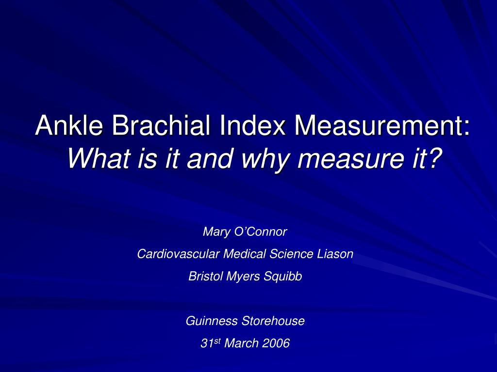 ankle brachial index normal