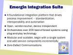 emergin integration suite