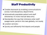 staff productivity