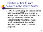 evolution of health care delivery in the united states14
