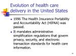 evolution of health care delivery in the united states15