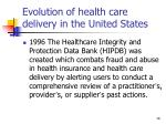 evolution of health care delivery in the united states16