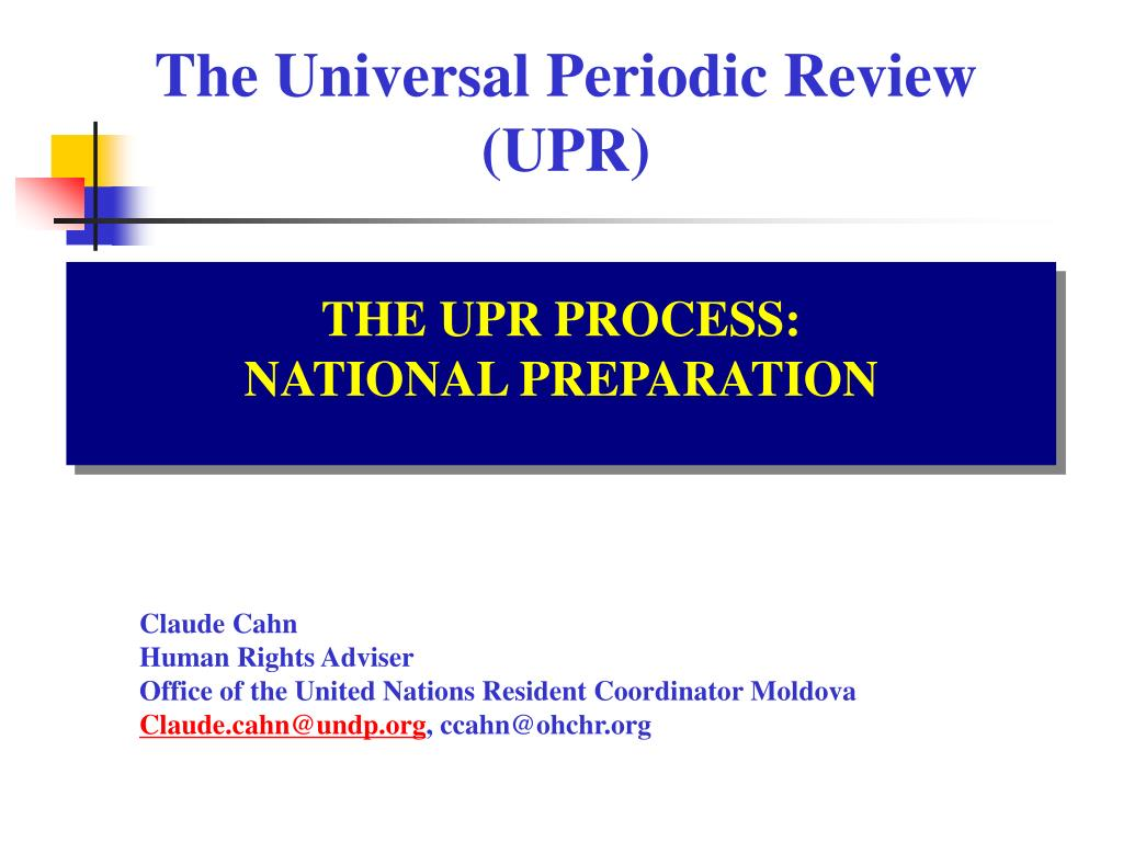the universal periodic review upr l.