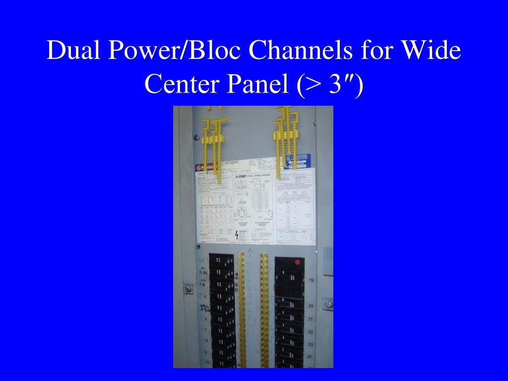Dual Power/Bloc Channels for Wide Center Panel (> 3″)