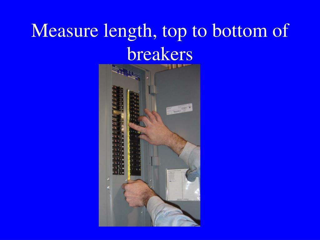 Measure length, top to bottom of breakers