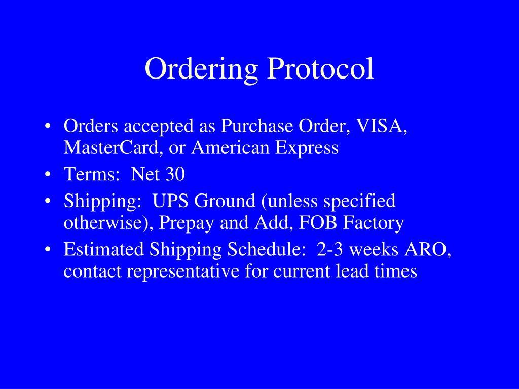 Ordering Protocol