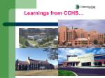 learnings from cchs
