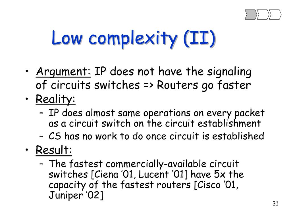 Low complexity (II)