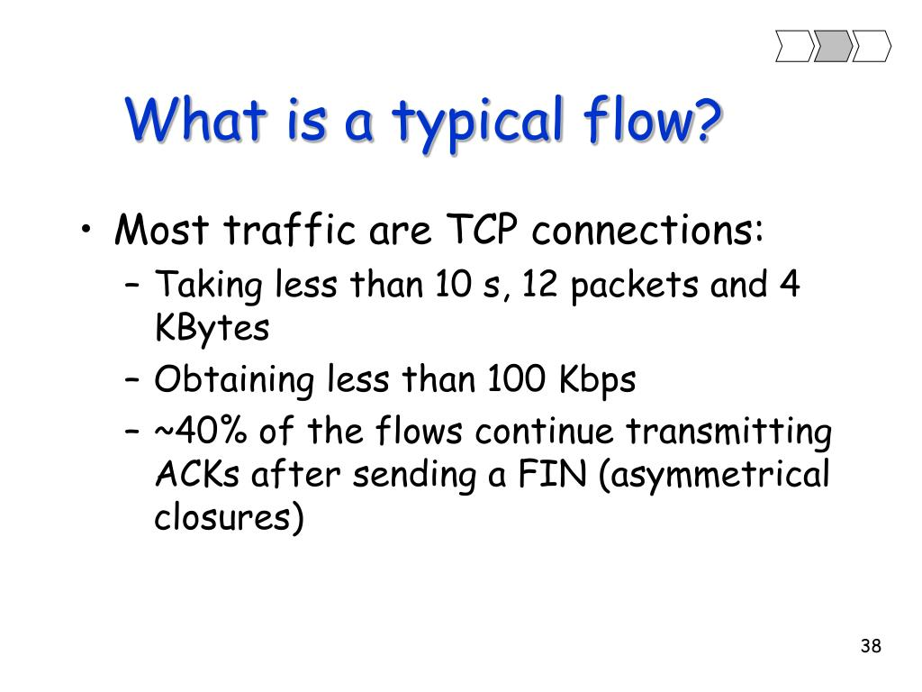 What is a typical flow?