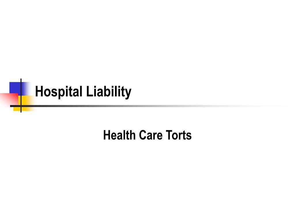 hospital liability l.