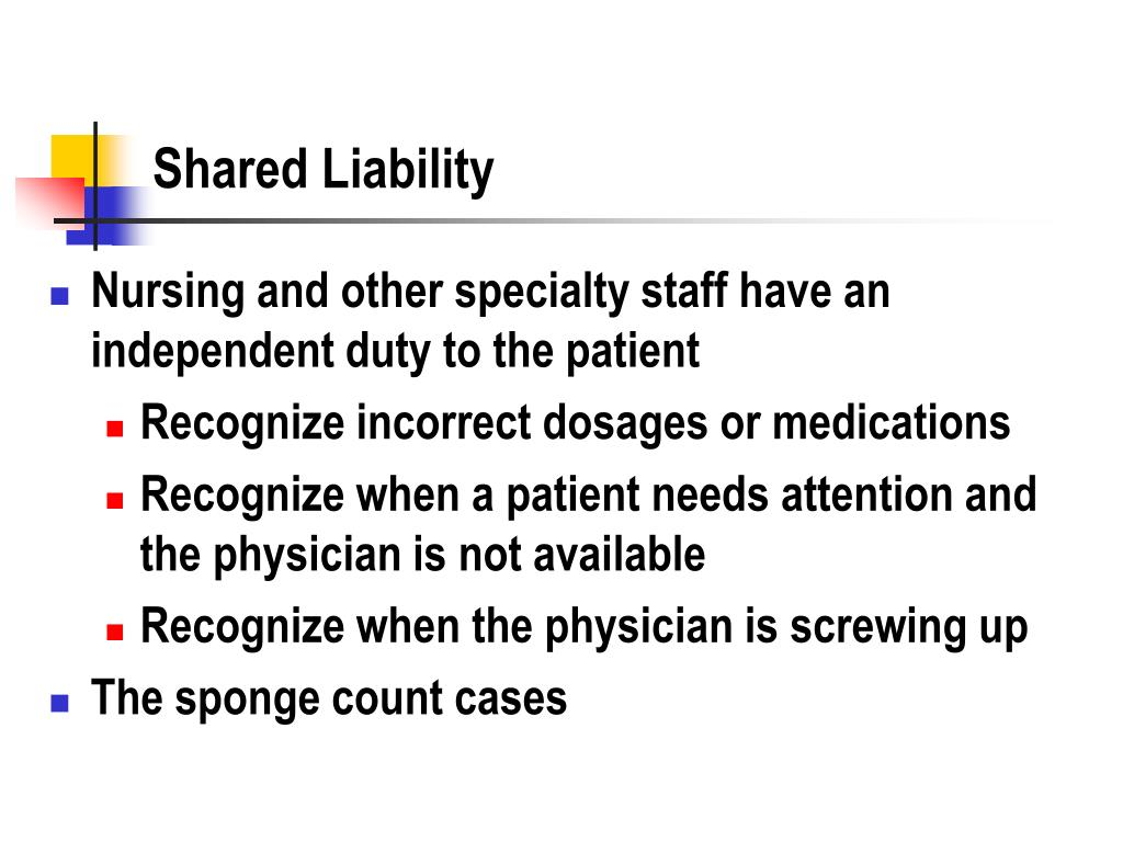 Shared Liability