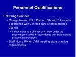 personnel qualifications63