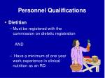 personnel qualifications64