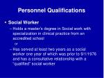 personnel qualifications65