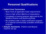 personnel qualifications66