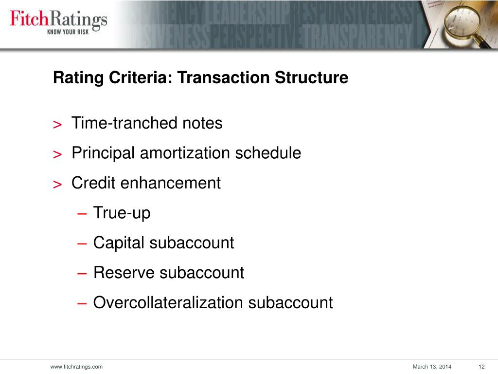 Rating Criteria: Transaction Structure