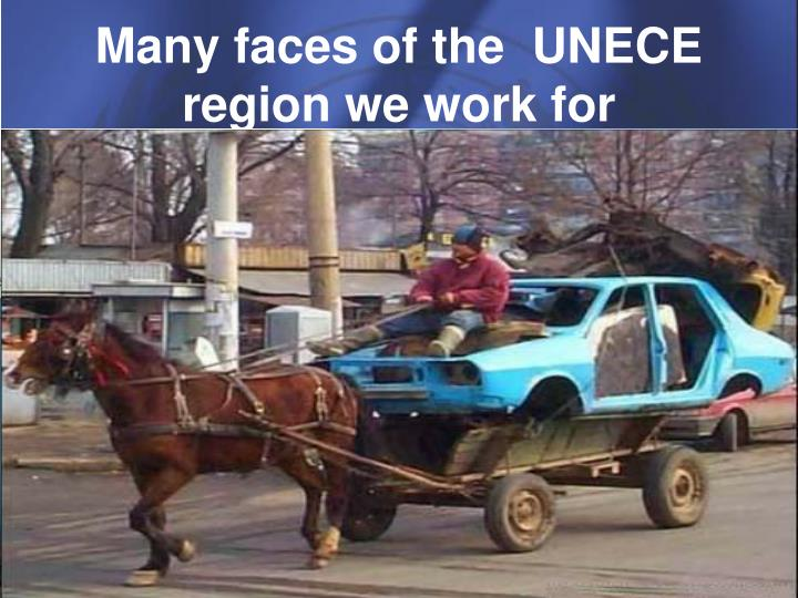 Many faces of the unece region we work for
