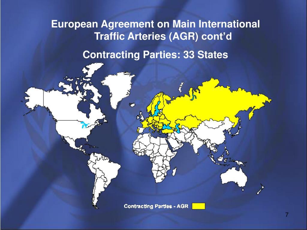 European Agreement on Main International Traffic Arteries (AGR)