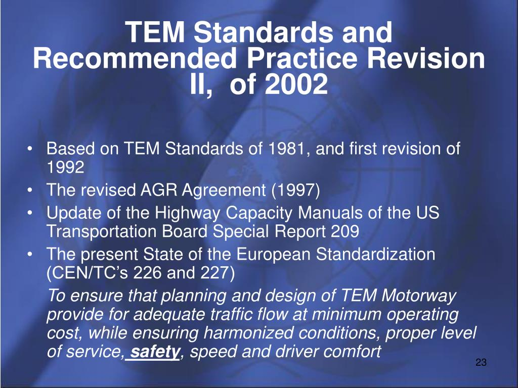 TEM Standards and Recommended Practice Revision II,  of 2002