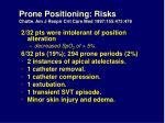prone positioning risks chatte am j respir crit care med 1997 155 473 478