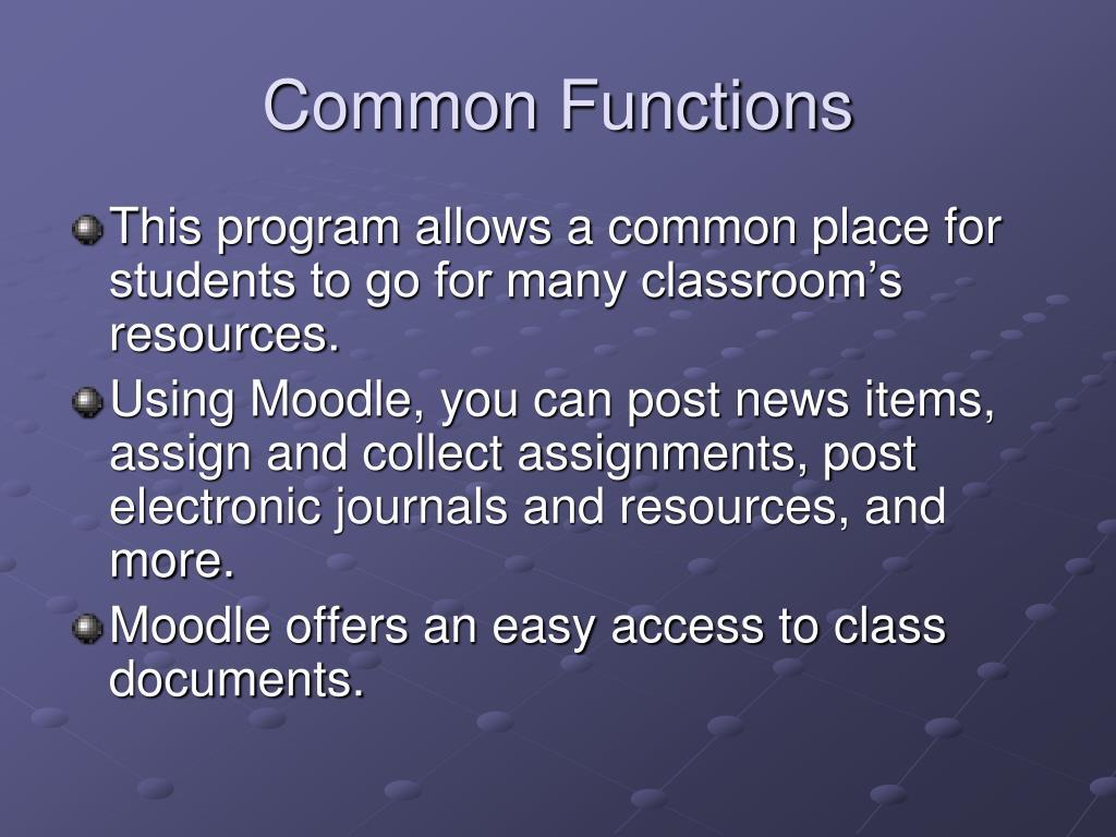 Common Functions