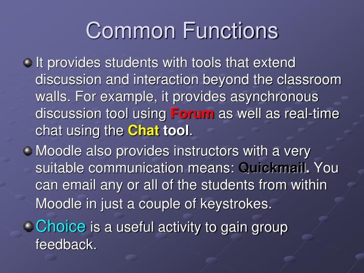 Common functions3