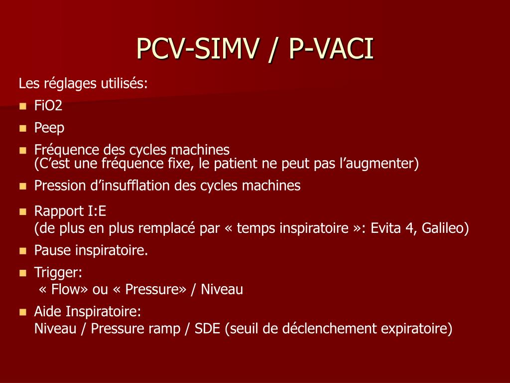 PCV-SIMV / P-VACI