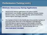 performance tuning cont