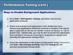 performance tuning cont13