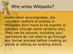 who writes wikipedia