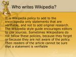 who writes wikipedia7