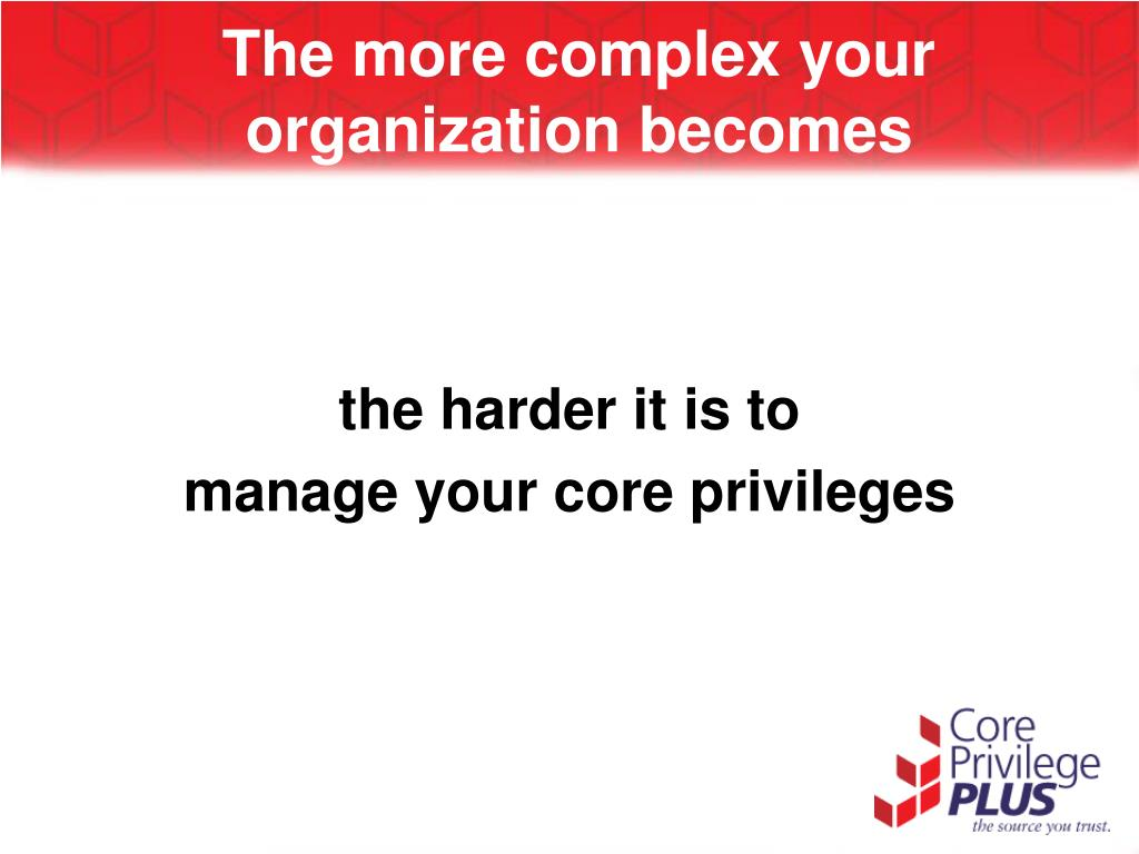 the more complex your organization becomes l.