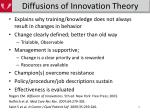 diffusions of innovation theory