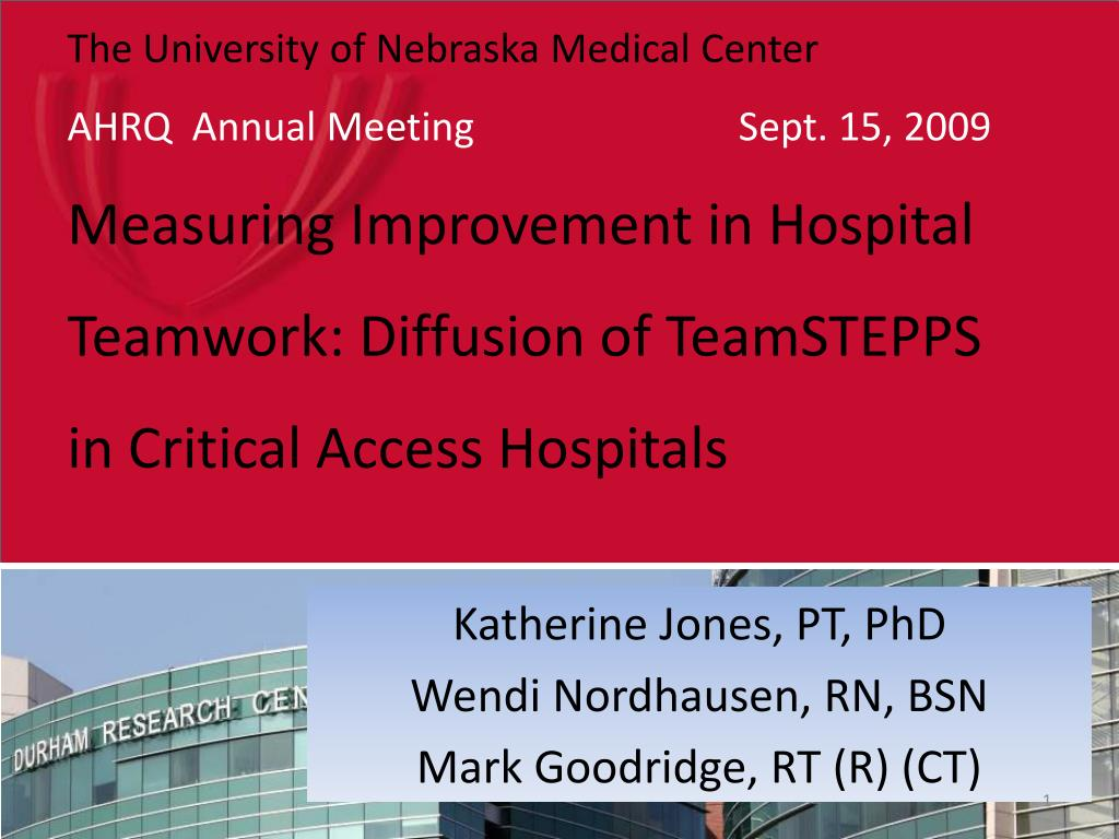 katherine jones pt phd wendi nordhausen rn bsn mark goodridge rt r ct l.
