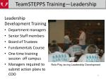 teamstepps training leadership